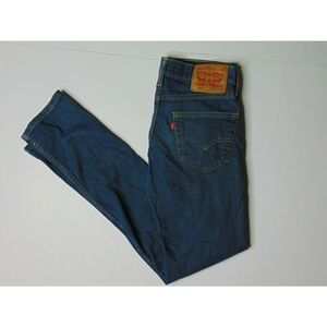 Levi's 511 30 X 32 Skinny Blue Jeans Stretch Denim